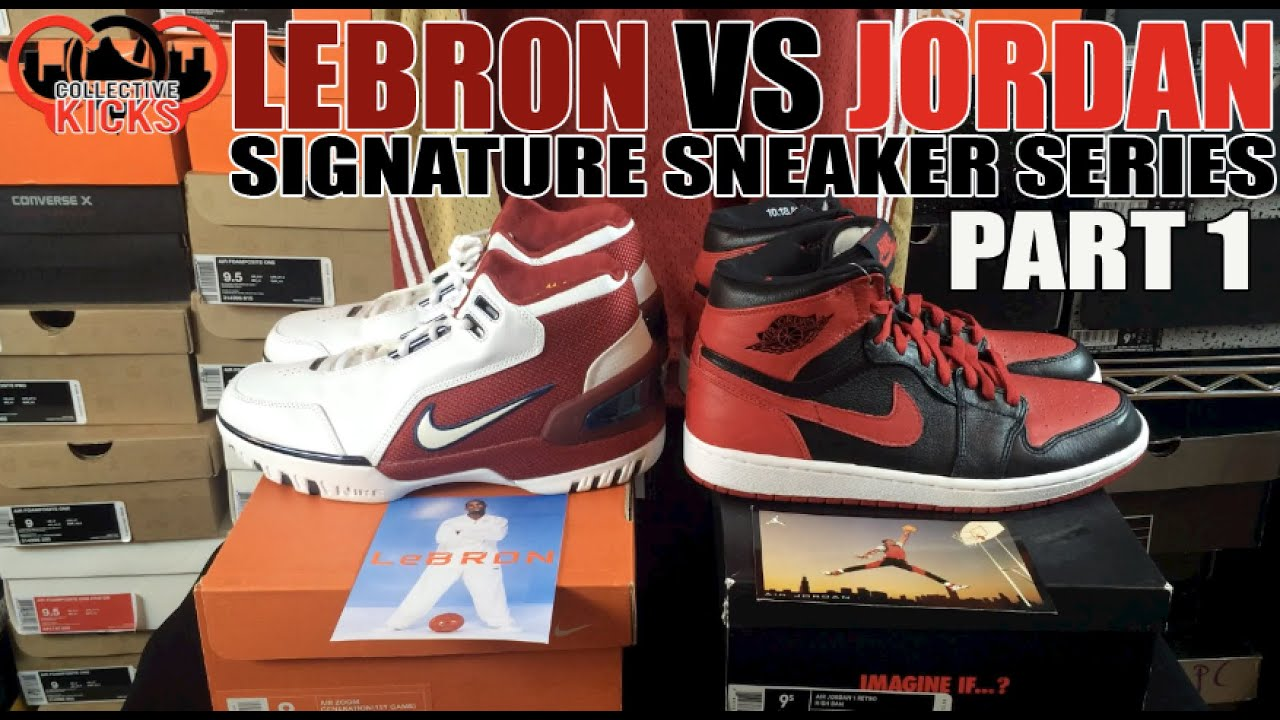 Jordan vs Lebron Sneakers Series Part 1  Air Jordan 1 vs Lebron Air Zoom  Generation (AJ1 vs AZG) 02b6c9fa38ff
