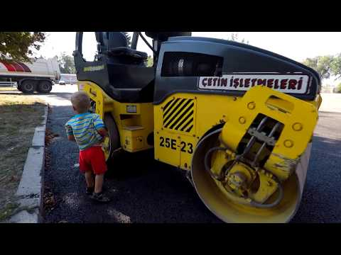 Car toy videos for kids excavator truck roller truck cranes boat
