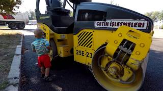 Car toy videos for kids excavator truck roller truck cranes boat thumbnail