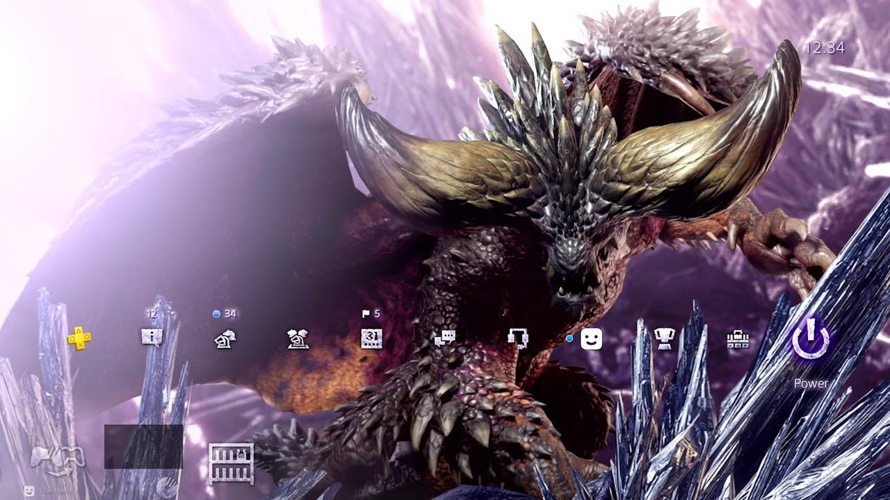 Dynamic Theme Nergigante On Ps4 Monster Hunter World Youtube
