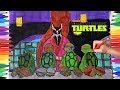 TEENAGE MUTANT NINJA TURTLES TMNT Coloring Pages | How to Draw Mickey Donnie Raphael Leo