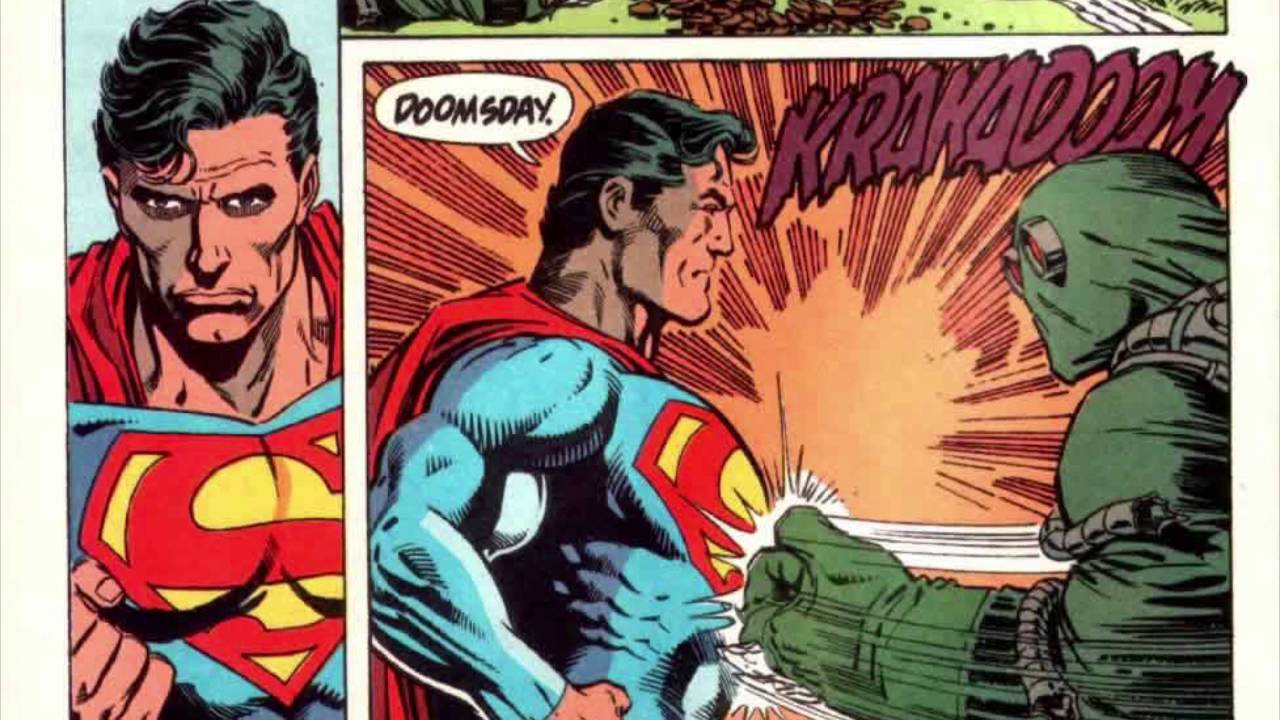 The Death and Return of Superman Superman vs Doomsday  YouTube