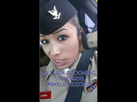NAVY Female Military Grooming Standards + Military Approved Makeup Tutorial- Drugstore Makeup
