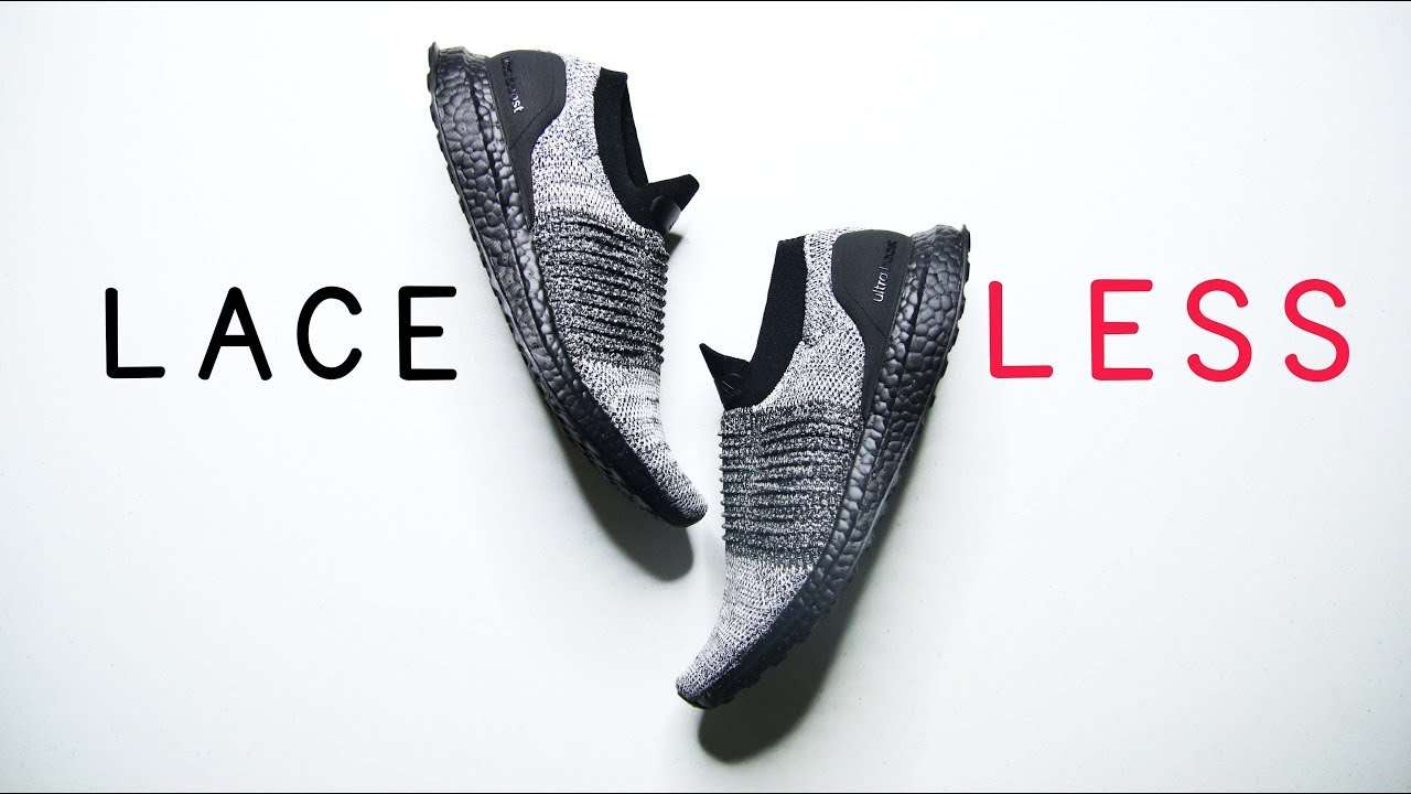 62e336adf Adidas ULTRABOOST LACELESS OREO BLACK BOOST    Best minimal running shoe  for 2018