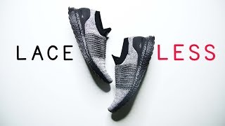 Adidas ULTRABOOST LACELESS OREO BLACK BOOST // Best minimal running shoe for 2018?
