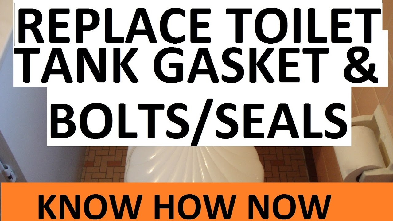 Replace Toilet Tank Bolts And Tank Gasket Youtube