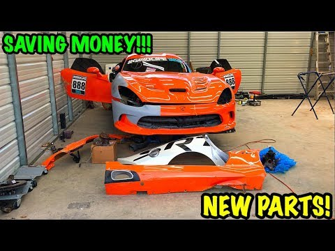 Rebuilding A Wrecked 2014 Dodge Viper TA TIME ATTACK PART 5