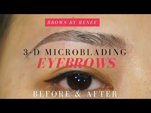 3D Microblading Eyebrows - Before   After