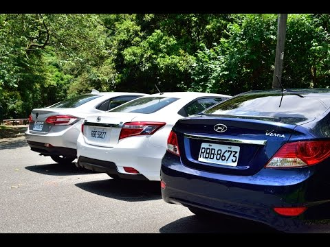 Toyota Vios+Hyundai Verna+Luxgen S3 四門小型房車集體試駕影片