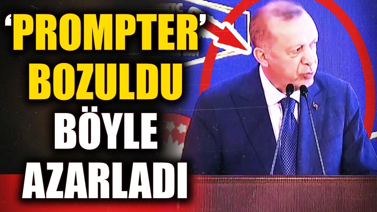 Erdoğan'ı Kızdıran Prompter! Canlı Yayında Azarladı