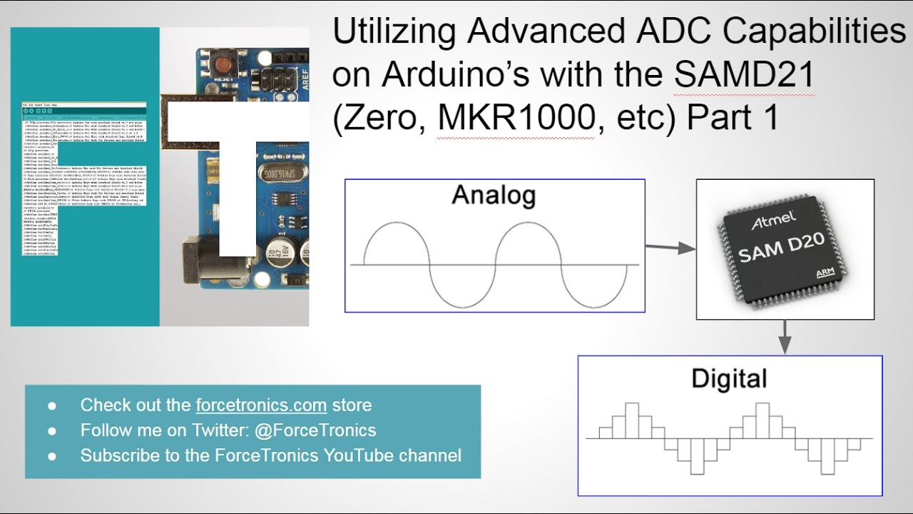 Utilizing advanced adc capabilities on arduino s with the