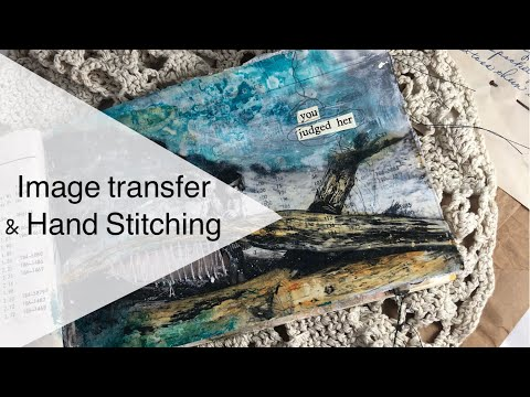 Image Transfer in Altered Book Journal