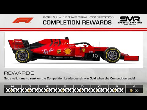 Real Racing 3 Formula 1 Time Trial Silverstone Hot Lap Group A With Braking & Acc. Points