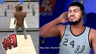 NBA 2k18 MyCAREER - Off Day #1 Lifting Weights! 1st Endorsement + Getting Roasted! Ep. 7