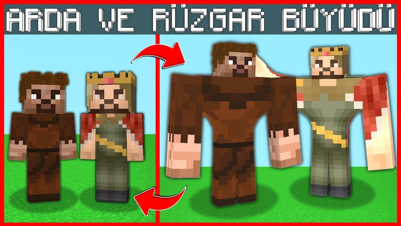 ARDA VE RÜZGAR BÜYÜDÜ KASLI OLDU! 😱 - Minecraft