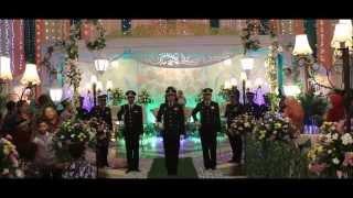 Tradisi Pedang Pora TNI AU Pernikahan Lettu Pnb Andhika & Dhoni Rezkiyah