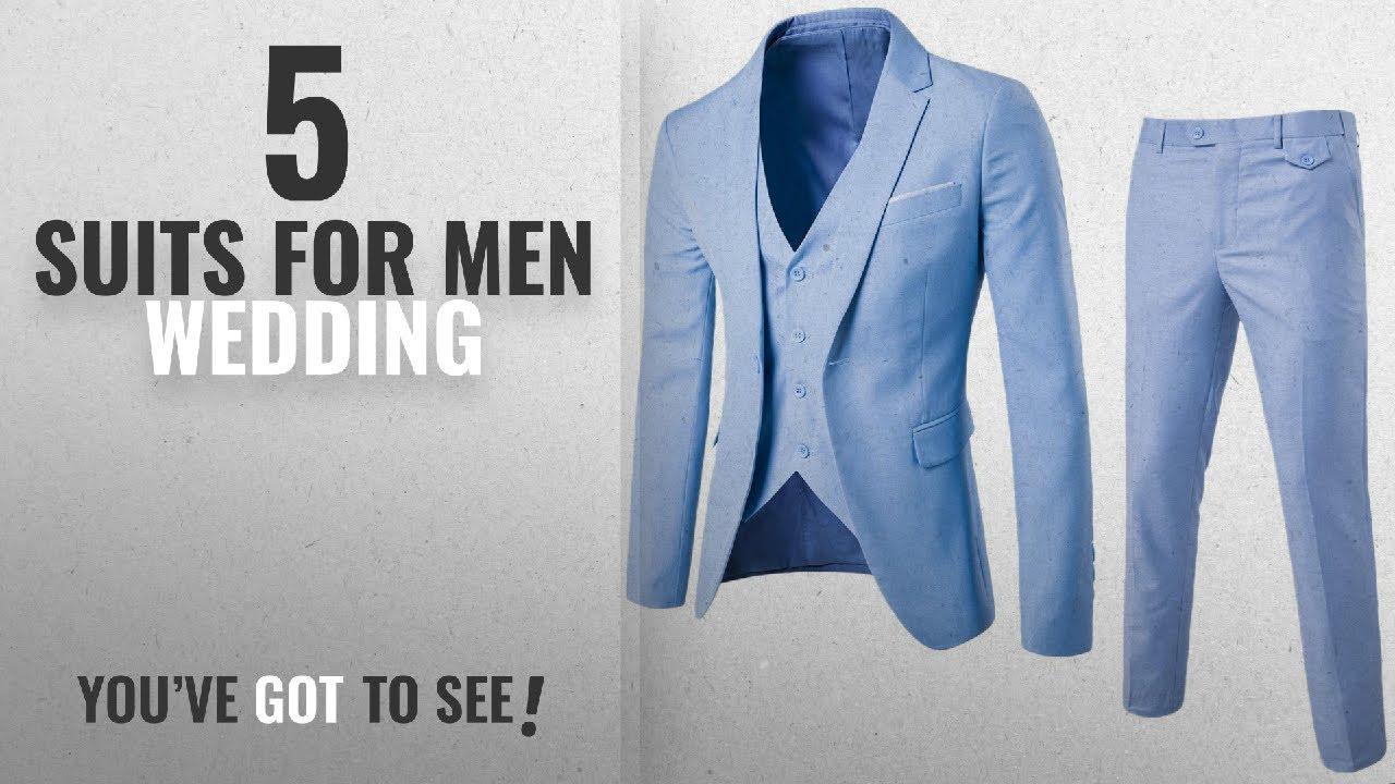 Top 10 Suits For Men Wedding [2018]: GOMY Men\'s Slim Fit 3 Piece ...