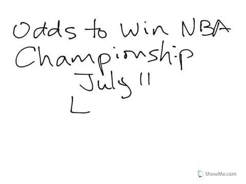 Odds To Win NBA Championship From Las Vegas