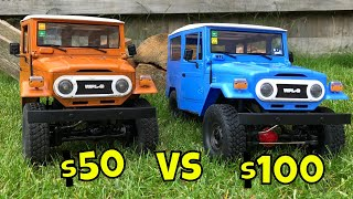 $50 Vs $100 RC Crawler, WPL C34 KM Vs WPL C34 K! Cheap RC trail truck