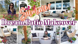 Dream Patio Makeover Before & After / NEW Summer Decorate With Me / Modern Farmhouse Patio Makeover
