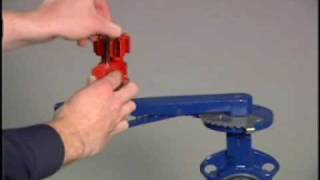 How To Operate A Universal Lockout On To A  Gate Valve
