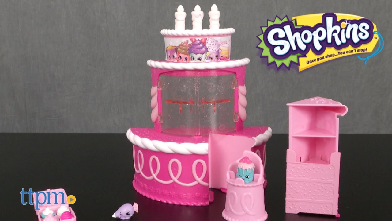 Shopkins Join The Party Birthday Cake Surprise Playset From Moose Toys