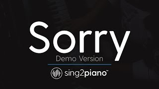 Sorry (Piano karaoke demo) Justin Bieber