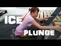 Russian Girl Dunks In Frozen Lake!