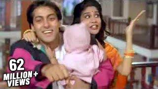 Salman Khan, Madhuri Dixit & Renuka Sahane in Lo Chali Main - Hum Aapke Hain Koun