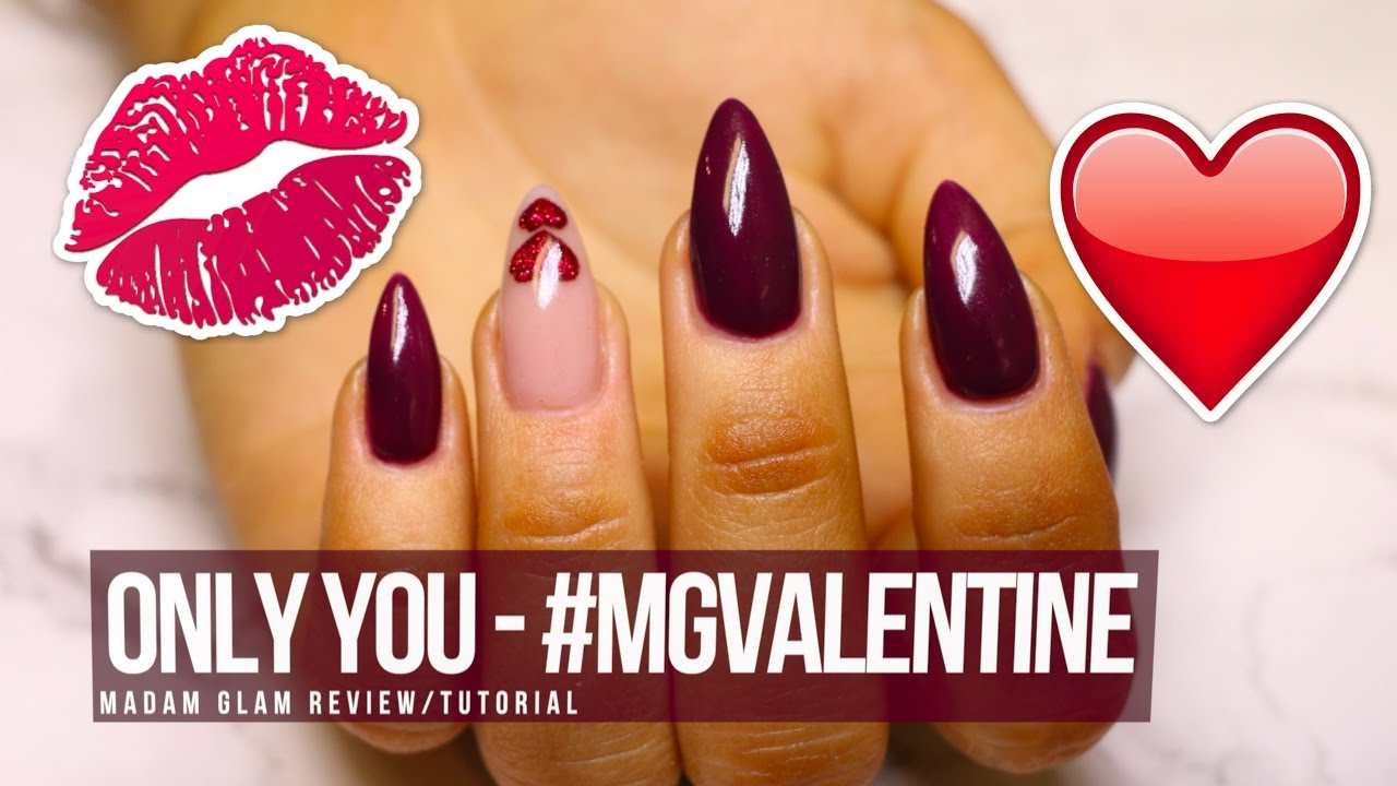ACRYLIC/GEL NAIL DESIGN - TUTORIAL/HOW TO: ONLY YOU - #MGValentine - ACRYLIC/GEL NAIL DESIGN - TUTORIAL/HOW TO: ONLY YOU - #MGValentine
