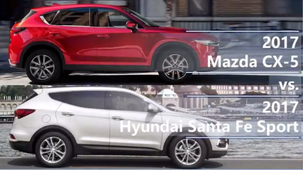 Mazda Santa Fe >> 2017 Mazda Cx 5 Vs 2017 Hyundai Santa Fe Sport Technical Comparison