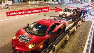 TOKYO POLICE PULL OVER LAMBORGHINI VIOLATING JAPANESE LAW!