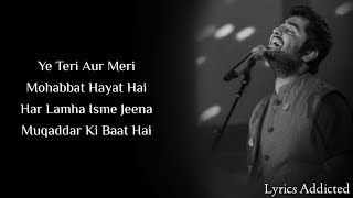 Tujhe Yaad Kar Liya Hai Full Song with Lyrics  Arijit Singh  Deepika P  Ranveer S  Priyanka C