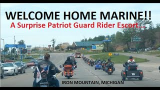 POLICE & PGR ESCORT WOUNDED MARINE HOME | Jason Asselin