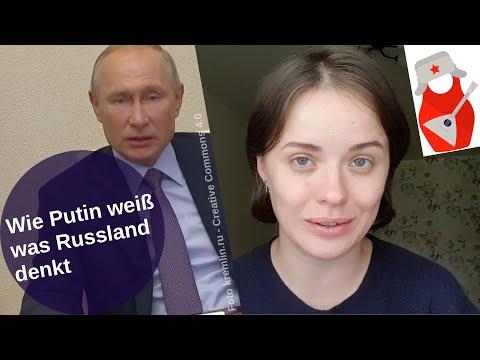 Wie Putin weiß was Russland denkt