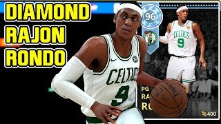 DIAMOND RAJON RONDO GAMEPLAY! OMG HE HITS THREES! NBA 2k18 MYTEAM