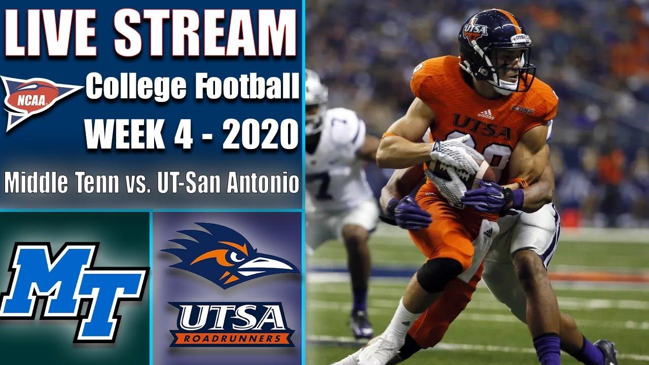 Middle Tenn Blue Raiders vs UTSA Roadrunners Live   2020 College Football Week 4   9/25/2020