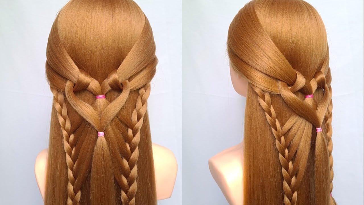 Các kiểu tết tóc đẹp đơn giản dễ làm đi dự tiệc | Easy braided hairstyle for long hair