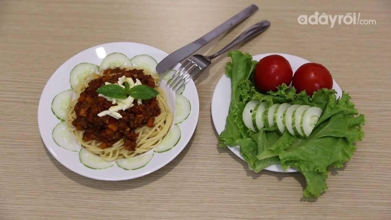 [ADR!Kitchen] Mỳ ý sốt bò bằm – Ngọt thơm, giàu dinh dưỡng