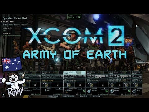 XCOM 2 Army of Earth (TWENTY Squad Size versus Massed Enemies)