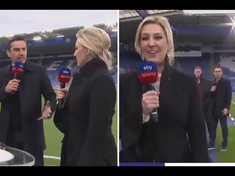 Sky Sports presenter Kelly Cates hilariously recreates viral Carragher and Neville video
