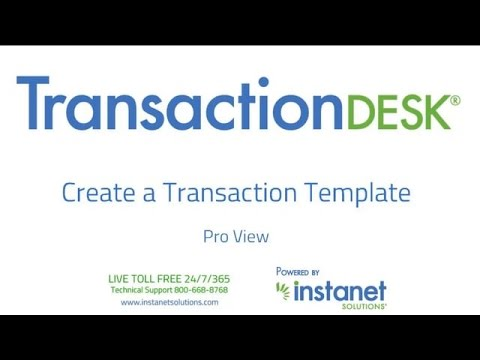 Matrix Transaction Desk Making Templates