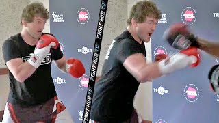 BEN ASKREN REVEALS REAL STRIKING! UNLEASHES FAST COMBINATIONS ON THE MITTS! READY TO KO JAKE PAUL!