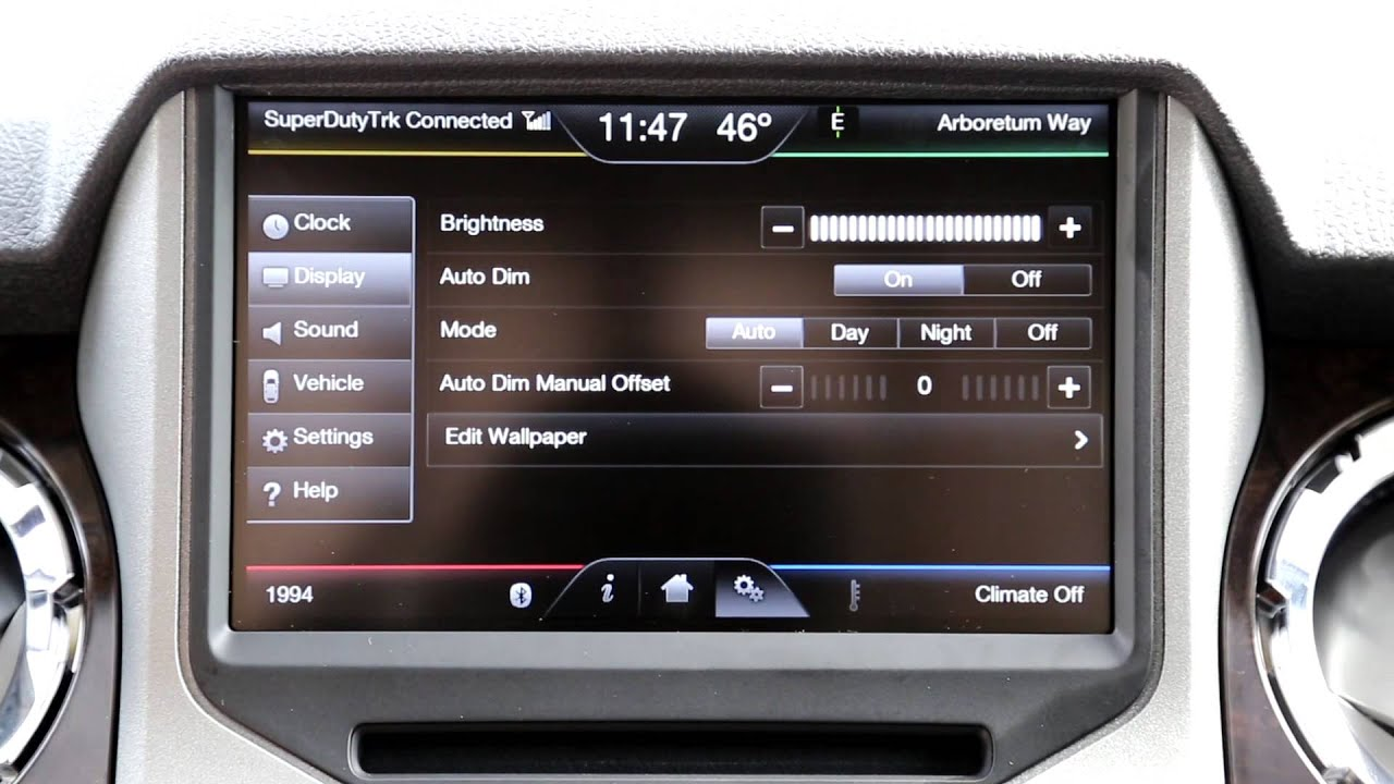 myford touch with microsoft sync in 2013 super duty platinum youtube rh youtube com MyFord Touch Technology Package MyFord Touch 800X384 Wallpaper