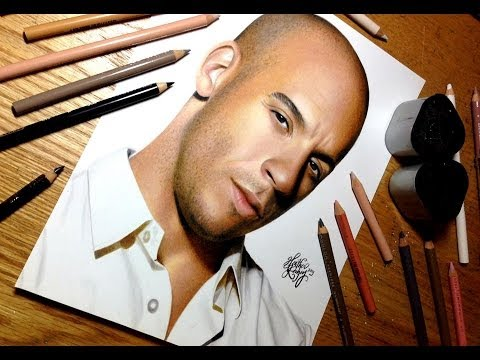 Drawing Vin Diesel Youtube