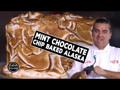 Mint Chocolate Chip Baked Alaska - Cake Boss Style! | Fast Cakes Ep11