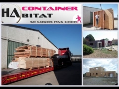 33 0 6 30 66 78 63 container habitable en kit low for Maison conteneur youtube