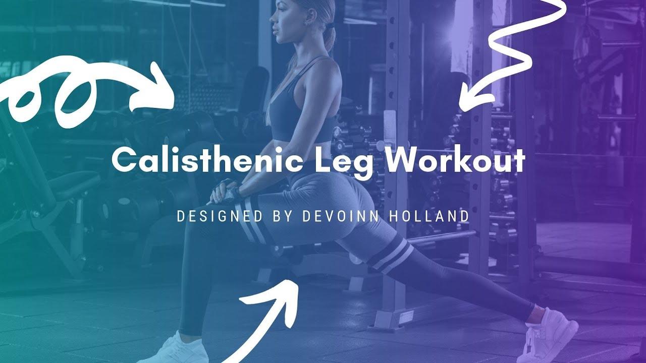 calisthenic workout leg buster