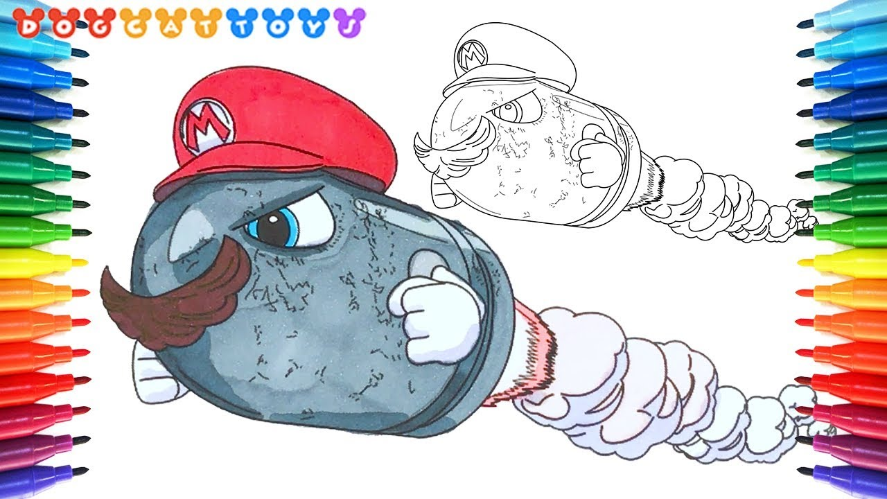 How To Draw Super Mario Odyssey Bullet Bill 150