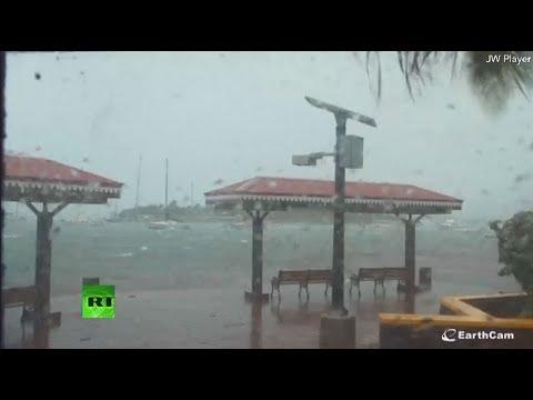El paso del devastador huracán Irma por el Caribe
